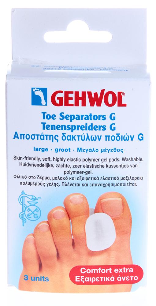 GEHWOL Гель-корректор G, маленький 3штОртопедические приспособления<br>Гель-корректор G Геволь применяется при наличии деформации и для корректировки положения пальцев ног. Гель-корректор отводит большой палец в сторону, предупреждает появление потертостей, при наличии мозолей между пальцами приносит значительное облегчение.   Корректирует, тесно прижатые пальцы ног, устойчиво исправляет положение пальцев, надвинувшихся друг на друга. Гель хорошо защищает от появления натертых мест на коже и образования мозолей.  Способ применения: Разместить между пальцами стоп в проблемных местах.<br><br>Тип: Гель-корректор<br>Назначение: Мозоли
