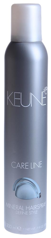 KEUNE Лак с природными минералами Кэе Лайн / CL MINERAL HAIRSPRAY 300млЛаки<br>Концентрированный, быстросохнущий лак для волос с неаэрозольным пульверизатором. Он придает волосам долговременную супер-фиксацию и поддержку. Лак не &amp;laquo;склеивает&amp;raquo; волосы и легко удаляется при расчесывании. Фактор фиксации - 19. В его составе не используются пропелланты, что делает его безопасным для природы. Активный состав: Провитамин В5: увлажняет волосы, предохраняя их от высушивания. Биомины: оживляют волосы и кожу головы. Применение: Наносить на уложенные волосы с расстояния 30 см.<br><br>Объем: 300