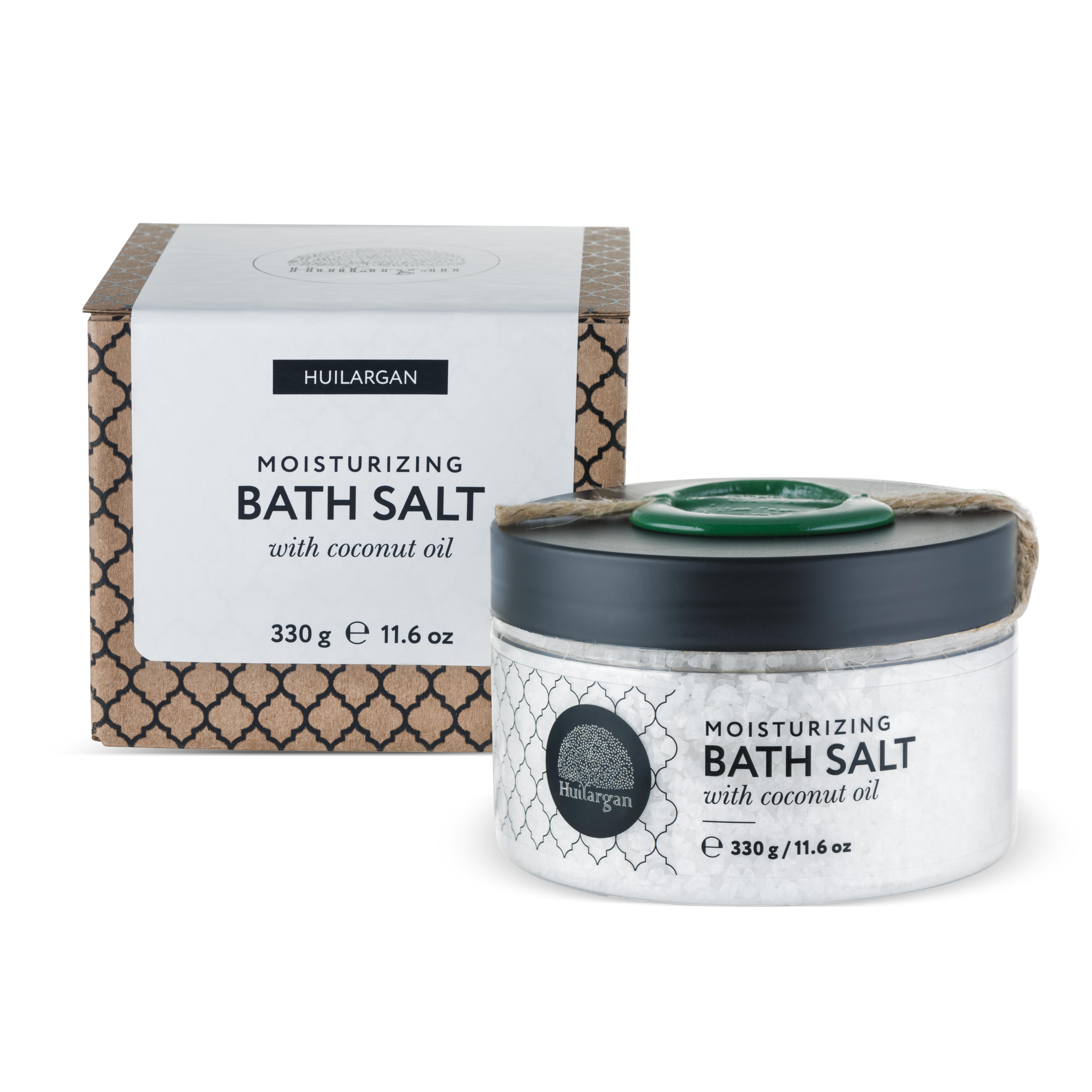 HUILARGAN Соль с кокосовым маслом для принятия ванн, увлажнение 330 г