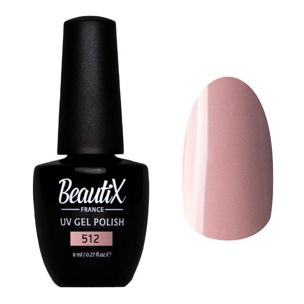 Купить BEAUTIX 512 гель-лак для ногтей 8 мл, Розовые