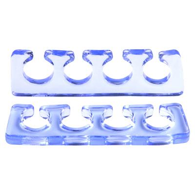 IRISK PROFESSIONAL Расширитель силиконовый для пальцев, 03 прозрачно-голубой 2 шт