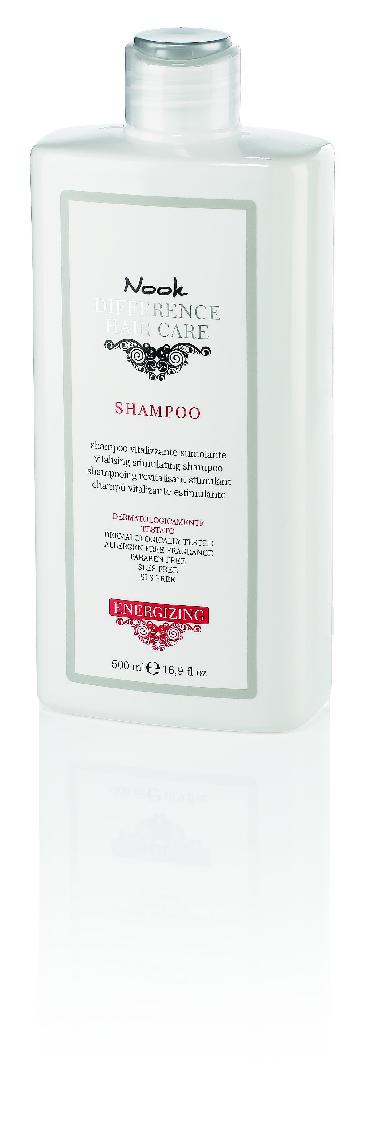 NOOK Шампунь витализирующий стимулирующий для волос, склонных к выпадению / DIFFERENCE HAIR CARE 500 мл