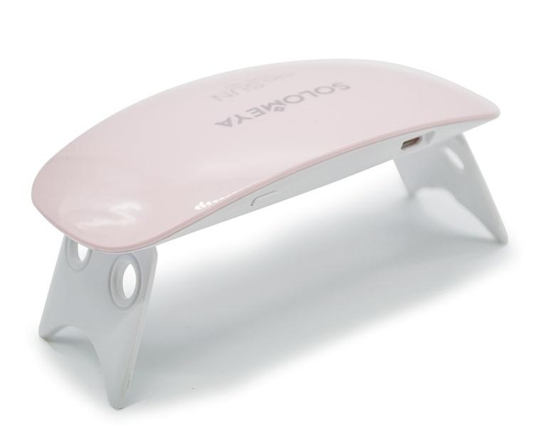 SOLOMEYA Лампа UV/LED 6Вт (розовая) / mini SUN (6W)