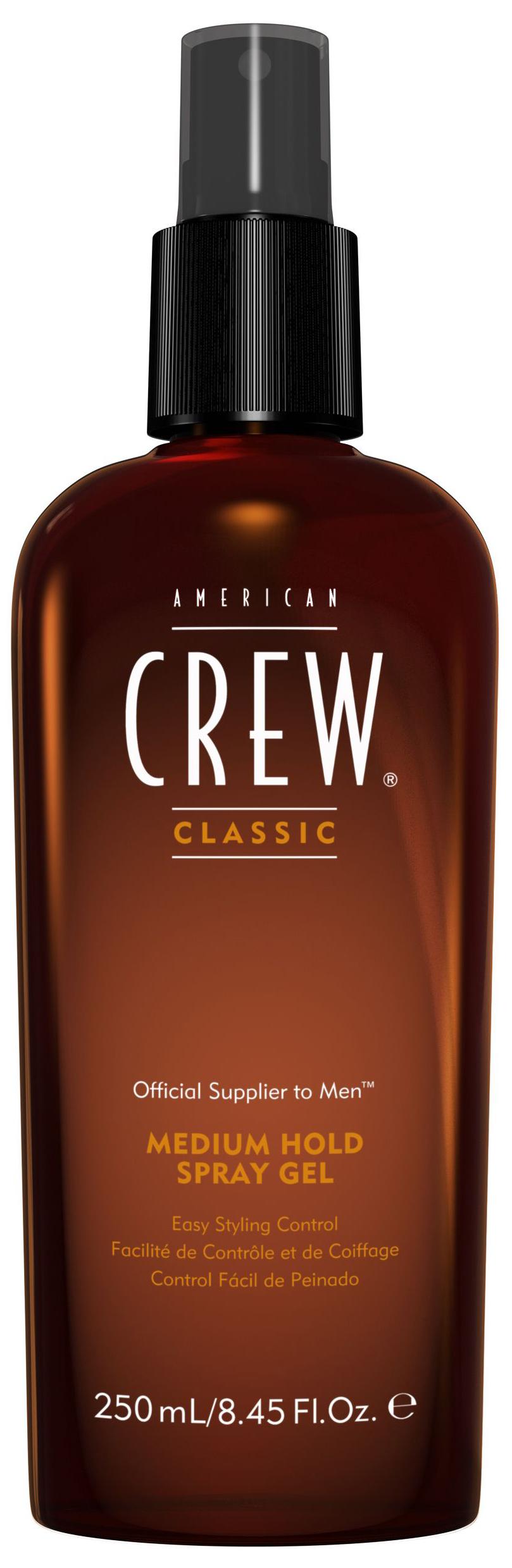 AMERICAN CREW Спрей-гель для волос средней фиксации, для мужчин / Classic Medium Hold Spray Gel 250 мл