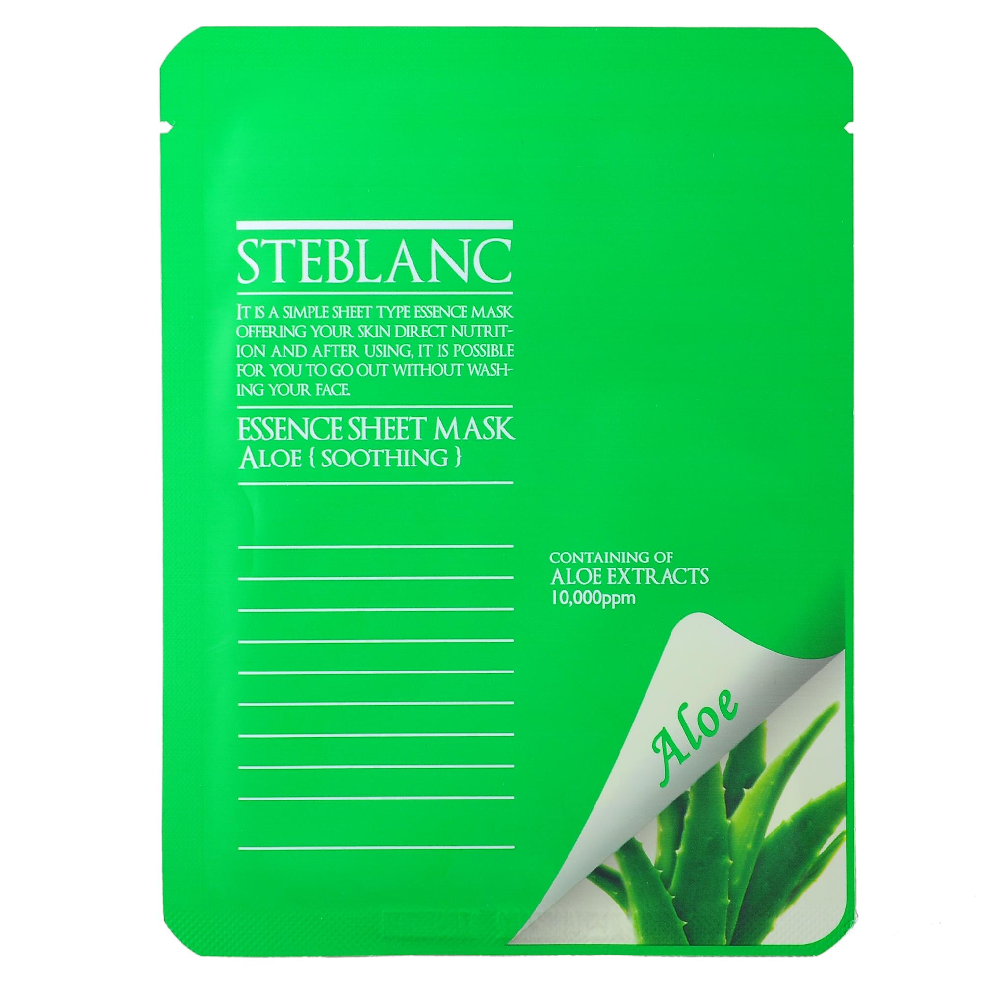 STEBLANC Маска успокаивающая с экстрактом алоэ для лица / ESSENCE SHEET MASK 20гр