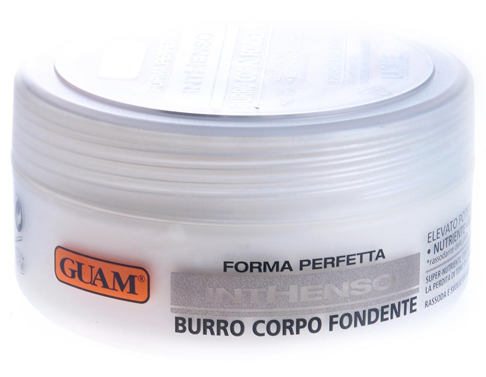GUAM Крем маслянистый интенсивно питающий для тела / INTHENSO 250млКремы<br>Крем обогащен питательными и укрепляющими компонентами, идеально подходит для нормальной, сухой и обезвоженной кожи. Имеет плотную маслянистую консистенцию, легко впитывается. Действие: На разогретой коже особенно эффективен - буквально тает, окутывая ее чувственным утонченным ароматом и даря ей нежность и притягательность. Крем восстанавливает липидную мантию, глубоко питает, укрепляет и подтягивает кожу, обеспечивая не только полноценную защиту, но и помогая сохранить молодость кожи и ее естественную красоту. Активные ингредиенты: Миндальное масло, масло ши, растительное масло, фитоэкстракты хвоща, сои, люцерны, расторопша, протеина пшеницы, черники, сахарного тростника, цедры апельсина, лимона, клена сахарного, каделильский воск, масло зародышей пшеницы. Способ применения: Нанести массажными движениями до полного впитывания. Может использоваться для всего тела.<br><br>Объем: 250