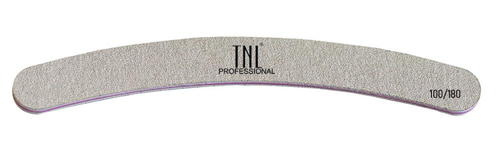 Купить TNL PROFESSIONAL Пилка бумеранг высококачественная для ногтей 100/180, серая (в индивидуальной упаковке)