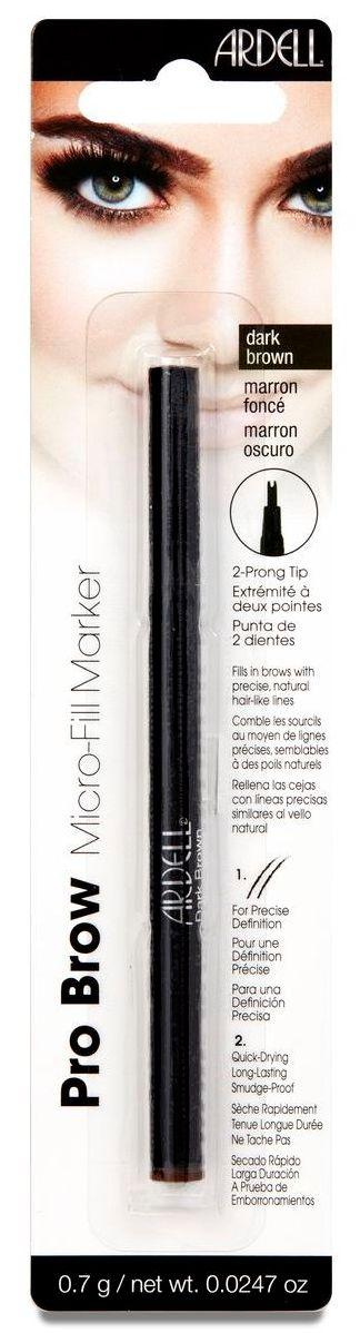 ARDELL Маркер для бровей, темно-коричневый / Micro-Fill Marker Dark Brown 12 г