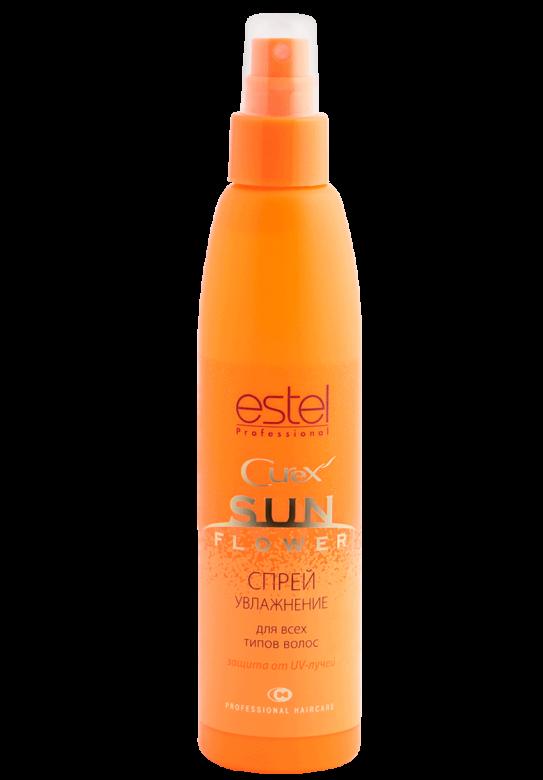 ESTEL PROFESSIONAL Спрей для увлажнения и защиты от UV-лучей / Curex Sunflower 200млСпреи<br>Интенсивно увлажняет волосы, бережно ухаживает за ними и облегчает расчесывание. Специальная формула с UV-фильтром создает микропленку по всей поверхности волос, обеспечивая защиту во время пребывания на солнце или в солярии. Модифицированные силоксаны придают волосам сияющий блеск и ухоженный вид. Защита от UV-лучей. Интенсивное увлажнение. Блеск и ухоженный вид волос. Активные ингредиенты: силоксаны,&amp;nbsp;UV-фильтр. Способ применения:&amp;nbsp;распылить на чистые сухие или влажные волосы до/во время пребывания на солнце или в солярии. Не смывать.<br><br>Объем: 200мл<br>Типы волос: Сухие