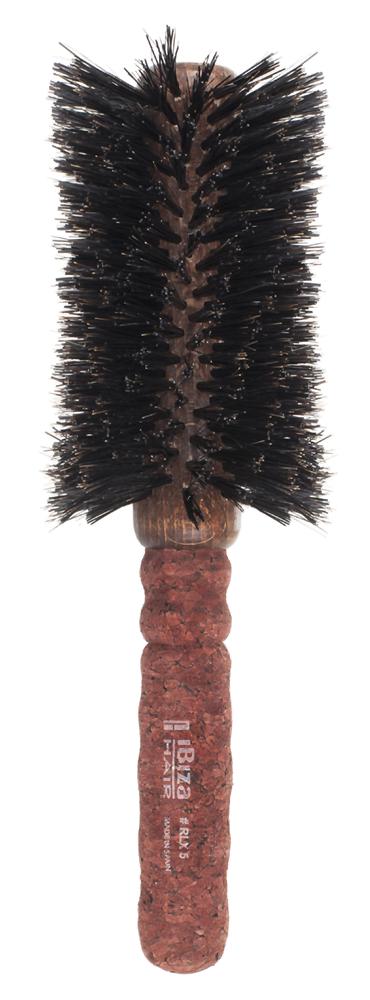IBIZA HAIR Щетка вогнутая для укладки волос, диаметр 80 мм (красное пробковое дерево) - Брашинги