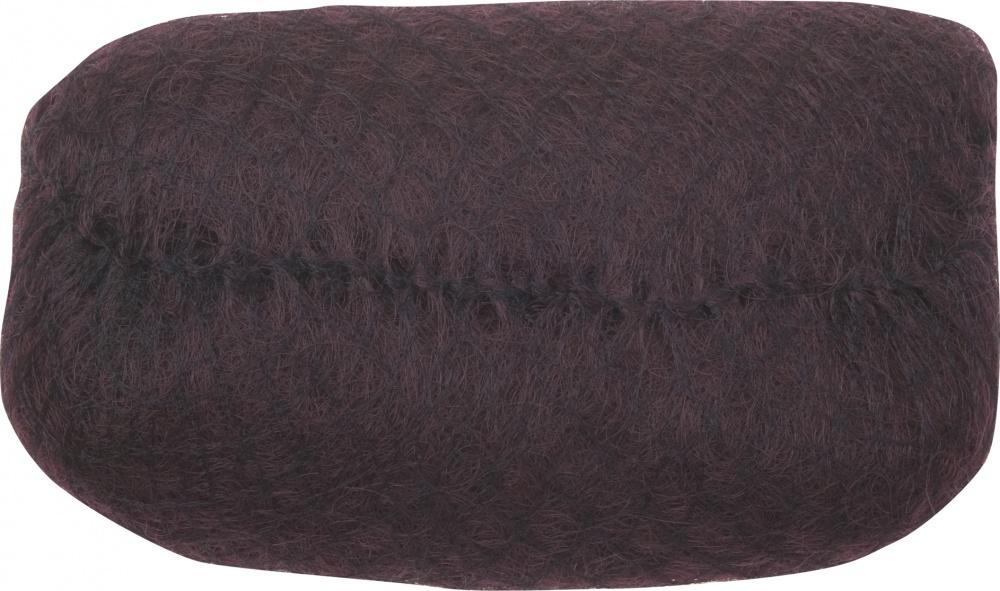 DEWAL PROFESSIONAL Валик для прически, искусственный волос/сетка, темно-коричневый 18х11 см