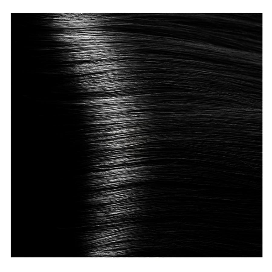KAPOUS 1.00 крем-краска для волос / Hyaluronic acid 100млКраски<br>Черный интенсивный Новая революционная формула красителя включает в состав низкомолекулярную гиалуроновую кислоту и инновационный ухаживающий комплекс, которые обеспечивают максимальное увлажнение, сохранение и восстановление структуры волос при окрашивании. Гиалуроновая кислота выполняет функцию межклеточного «цемента» заполняя клеточный матрикс волос. Обладает способностью притягивать огромное количество молекул воды, тем самым максимально увлажняя волосы в процессе окрашивания, так же она является отличным проводником для микропигментов красителя. Креатин – это аминокислота, которая является строительным материалам для поврежденных участков кортекса и кутикулы волос. Укрепляет, восстанавливает и защищает волосы в процессе окрашивания. Пантенол – провитамин В5, помогает восстановить поврежденные участки волосы после окрашивания заполняя все участки, делая его гладким. Обволакивает каждый волос пленкой, которая добавляет до 10%-20% объема (диаметра волос). После многочисленных исследований специалистами лаборатории был создан уникальный по своему действию комплекс: HAPS (Hyaluronic Acid Pigments System), который был взят за основу нового красителя. Состав: AQUA (WATER), CETEARYL ALCOHOL, PROPYLENE GLYCOL, OLEYL ALCOHOL, OLEIC ACID, CETEARETH-30, CETEARETH-3, ETHANOLAMINE, SORBITOL, CETEARETH-20, AMMONIA, SODIUM LAURYL SULFATE, GLYCERYL STEARATE, POLYQUATERNIUM-22, BEHENTRIMONIUM CHLORIDE, HYDROXYPROPYL GUAR HYDROXYPROPYLTRIMONIUM CHLORIDE, TETRASODIUM EDTA, ASCORBIC ACID, SODIUM METABISULFITE, CREATINE, PALMITOYL MYRISTYL SERINATE, GLYCERIN, PEG-8/SMDI COPOLYMER, PEG-8, SODIUM POLYACRYLATE, PANTHENOL, LECITHIN, HYDROLYZED SILK, SODIUM HYALURONATE, CYSTINE BIS-PG-PROPYL SILANETRIOL, PARFUM (FRAGRANCE) METHYLCHLOROISOTHIAZOLINONE, METHYLISOTHIAZOLINONE, MAGNESIUM CHLORIDE, MAGNESIUM NITRATE, CITRONELLOL, GERANIOL +/- P-PHENYLENEDIAMINE, 1,5-NAPHTHALENEDIOL, 1-HYDROXYETHYL 4,5-DIAMINO PYRAZOLE SULFATE,