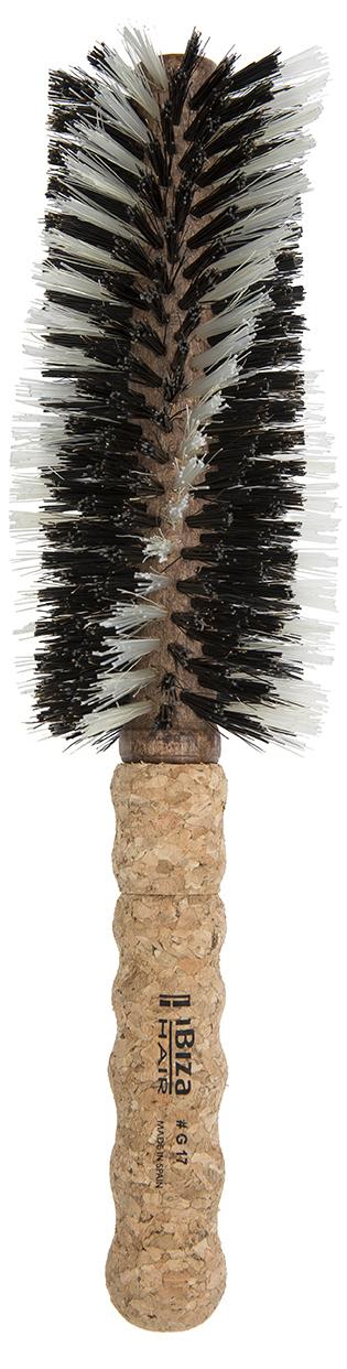 IBIZA HAIR Щетка круглая, закрученная, гибридная для укладки волос, диаметр 65 мм (пробка) - Брашинги