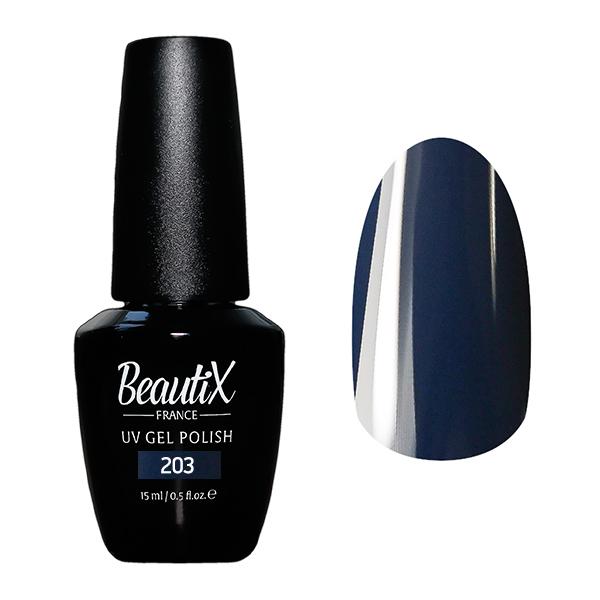 Купить BEAUTIX 203 гель-лак для ногтей 15 мл, Синие