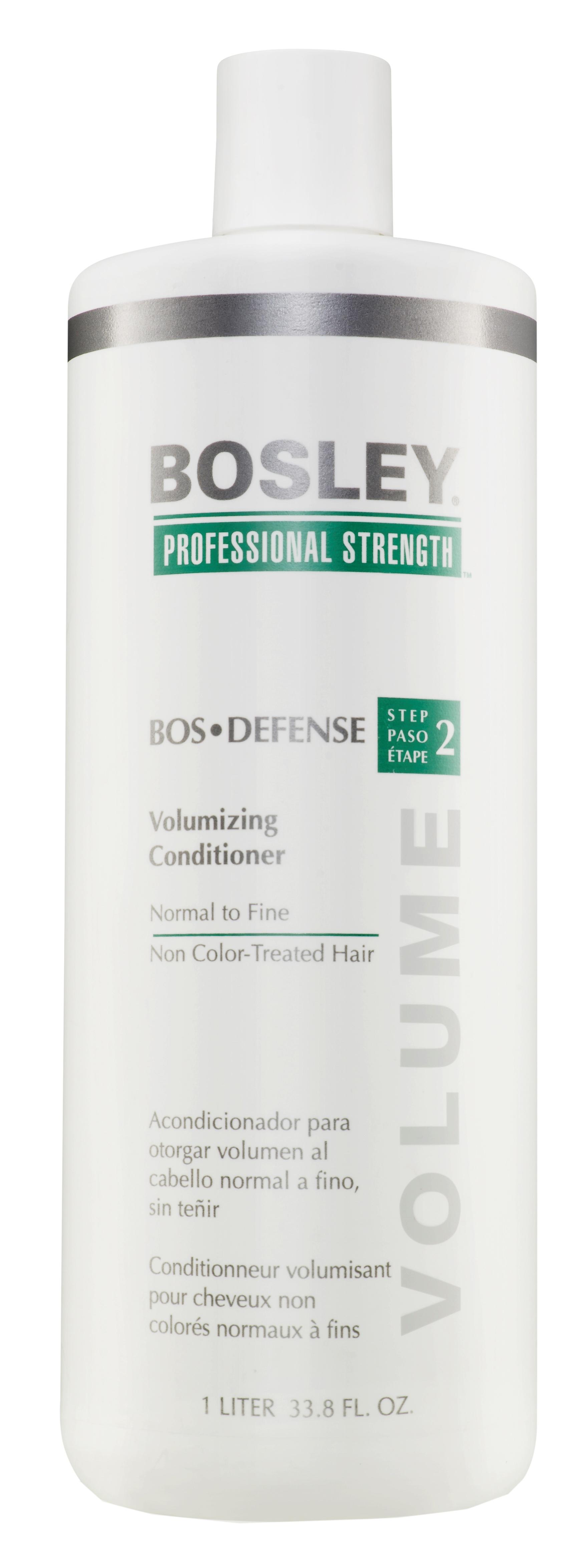 BOSLEY Кондиционер для объема нормальных/тонких неокрашенных волос / ВОS DEFENSE (step 2) 1000 мл bosley система для нормальных тонких неокрашенных волос зеленая воs defense