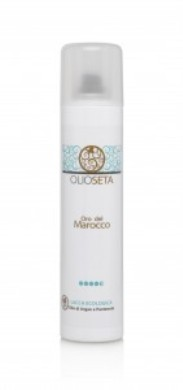 BAREX Лак-эко без газа Золото Марокко / OLIOSETA ORO DEL MOROCCO 300млЛаки<br>Лак для волос суперсильной фиксации обеспечивает максимальный контроль на долгое время и рекомендуется для создания и фиксации сложных причесок без эффекта влажной деформации прядей. В его состав входит аргановое масло, которое защищает волосы от влажности, придавая им сияние и пантенол, оказывающий на волосы выраженный кондиционирующий эффект. Активные ингредиенты: аргановое масло, пантенол.Способ применения: распылить на сухие волосы для фиксирования прически любого типа.<br>