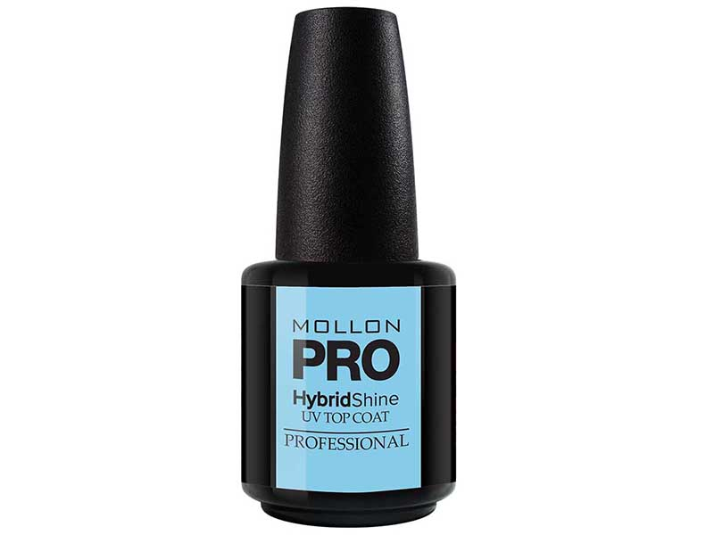 MOLLON PRO Покрытие для ногтей верхнее УФ / HybrydShine UV Top Coat 15мл