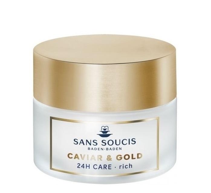 Купить SANS SOUCIS Крем-люкс антивозрастной питательный 24 часа Икра и золото / CAVIAR & GOLD ANTI AGE DELUXE 24H CARE RICH 50 мл