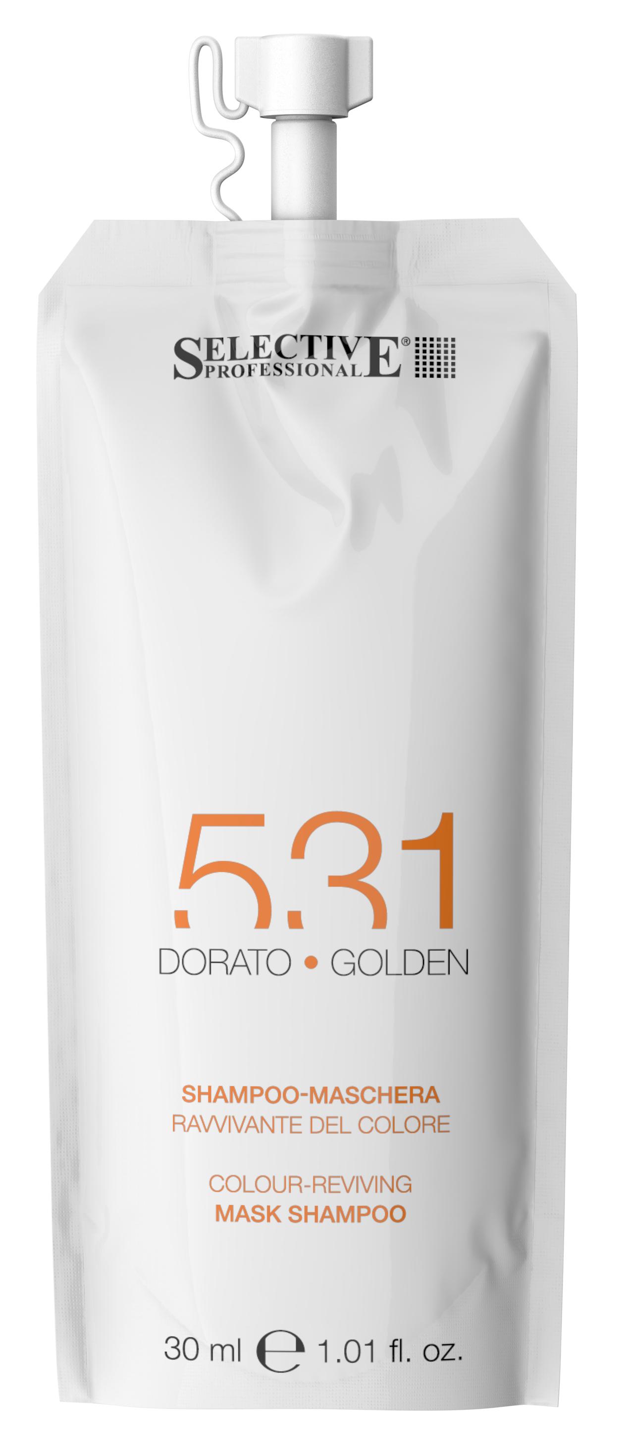 Купить SELECTIVE PROFESSIONAL Шампунь-маска для возобновления цвета волос 531, золотистый 30 мл