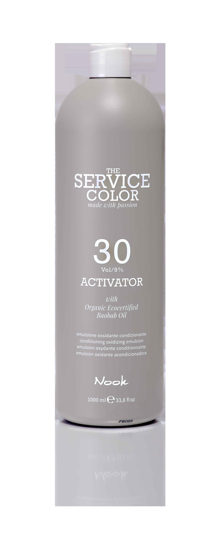 NOOK Активатор 9% (30vol) / ACTIVATOR THE SERVICE COLOR 1000мл nook активатор 3