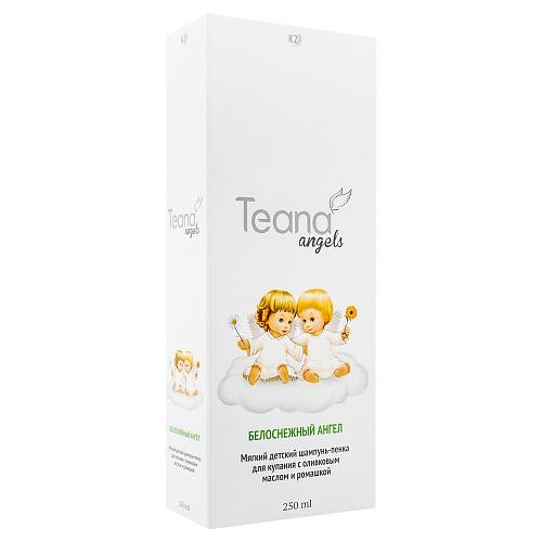 TEANA Шампунь-пенка мягкий детский для купания с оливковым маслом и ромашкой Белоснежный Ангел, 250 мл