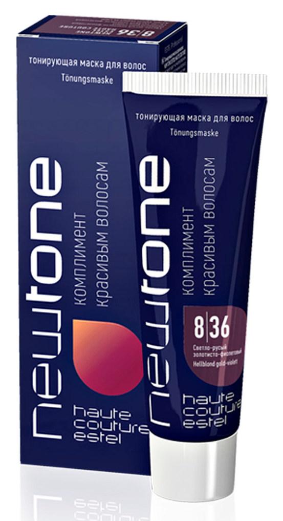 ESTEL HAUTE COUTURE 8/36 маска тонирующая для волос, светло-русый золотисто-фиолетовый / NEWTONE 60 мл фото