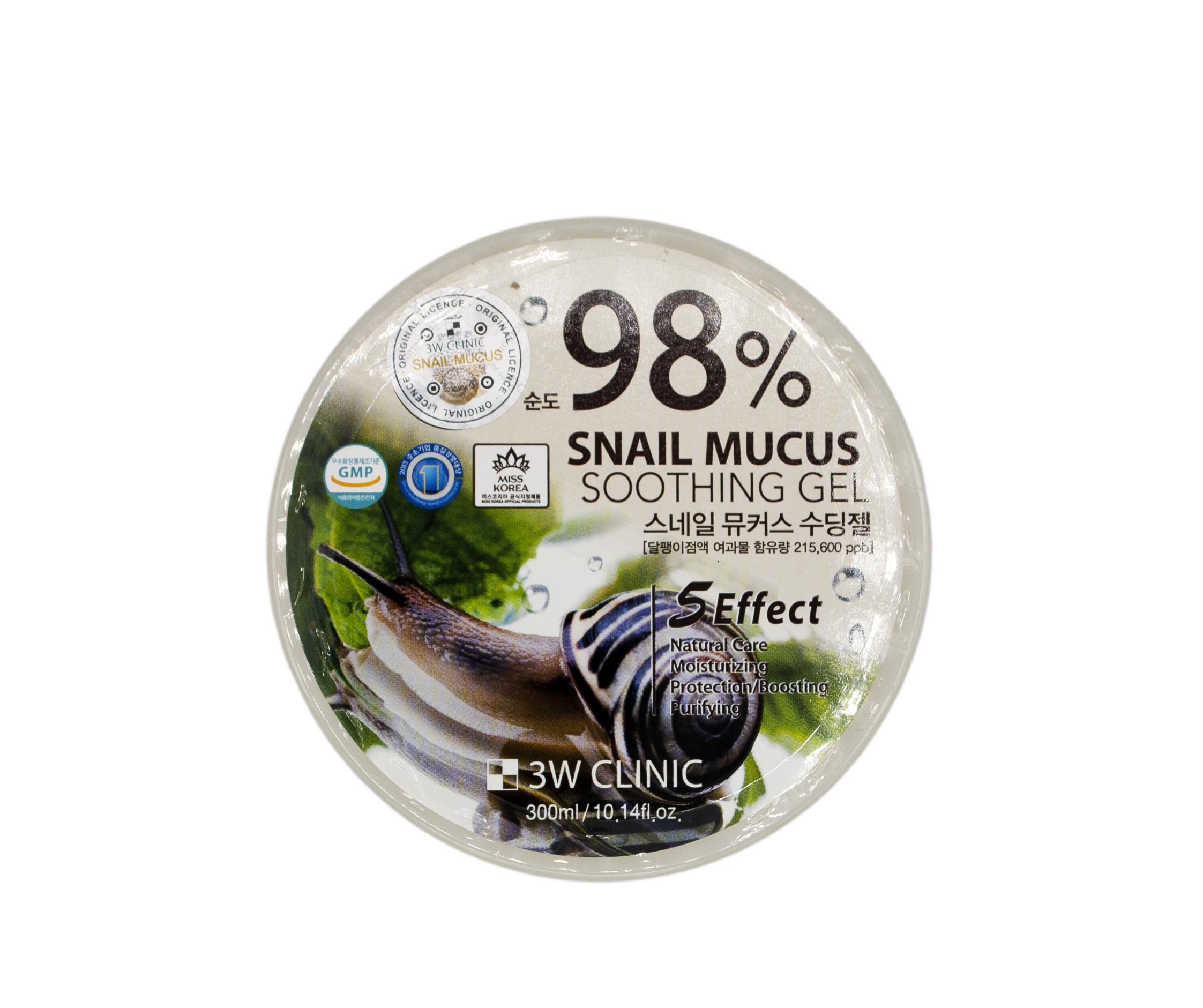 Купить 3W CLINIC Гель универсальный для лица и тела с улиточным муцином 98% / Snail 300 г