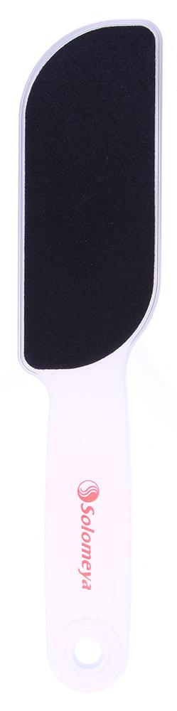 SOLOMEYA Пилка педикюрная двухсторонняя 80/120 / Foot FileТерки для ног<br>Педикюрная двухсторонняя пилка Solomeya предназначена для обработки больших поверхностей стопы. Она тщательно снимает и шлифует ороговевший слой кожи. Подходит как для профессионального, так и для домашнего ухода. Легко моется и дезинфицируется. Может использоваться в течение длительного времени. Абразивность: 80/120 .  Способ применения: Легкими движениями промассировать огрубевшую и сухую кожу после распаривания,по окончанию процедуры нанести увлажняющий крем.<br>