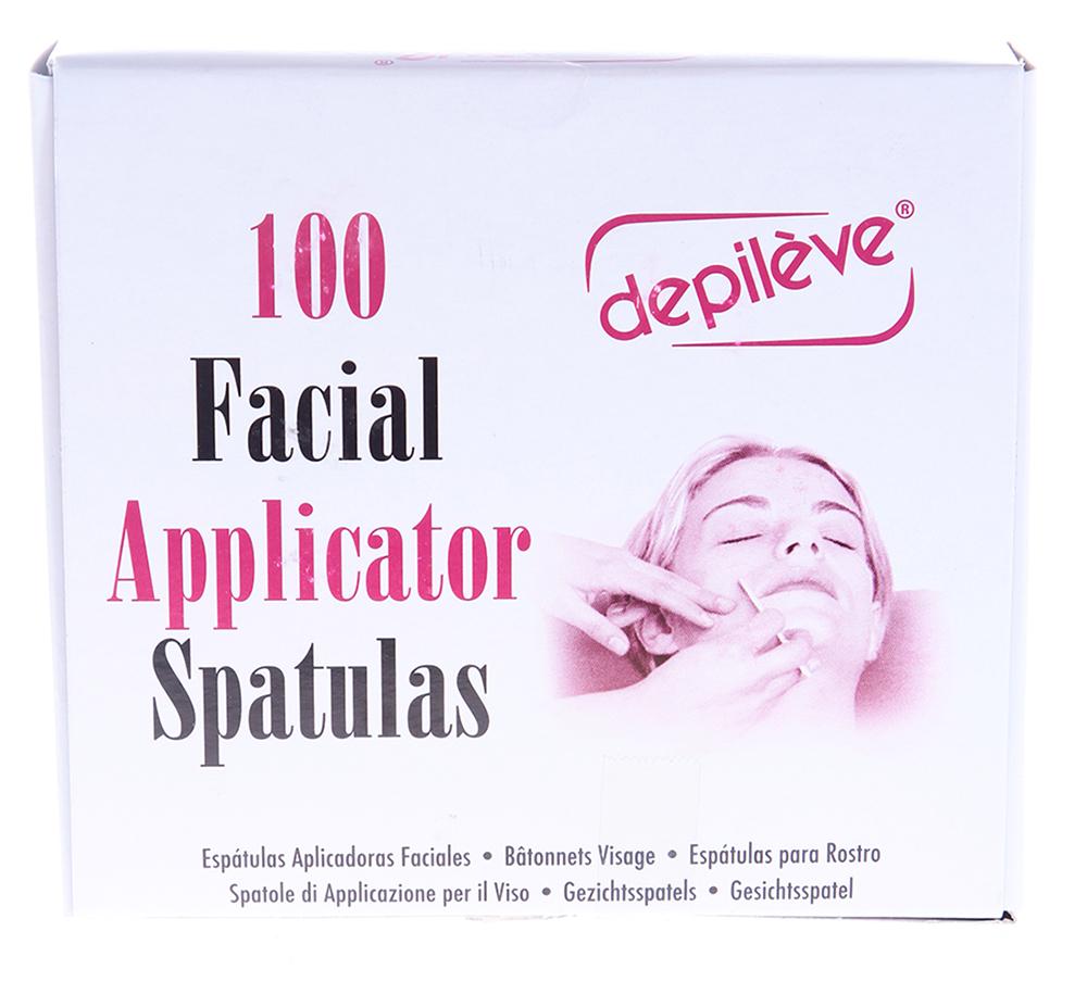DEPILEVE Шпатели для лица 100 шт depileve горячий воск хлорофилловый depileve traditional chlorophyl wax 1205008 500 г