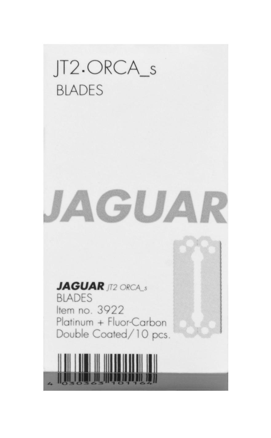 JAGUAR Лезвия Jaguar JT2 39,4мм 10 шт/упБритвы<br>JT2 // ORCA_s, 39.4 mm. 10 двусторонних лезвий из нержавеющей стали, обработанные методом «ледяной закалки», с платиновым и фторкарбоновым покрытием.<br>