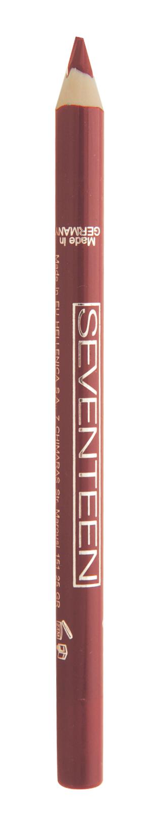 SEVENTEEN Карандаш для губ водостойкий с витамином Е, 10 томат / Super Smooth W/P Lip Liner 1,2 г косметические карандаши seventeen карандаш для губ водостойкий с витамином е super smooth w p lip liner 32
