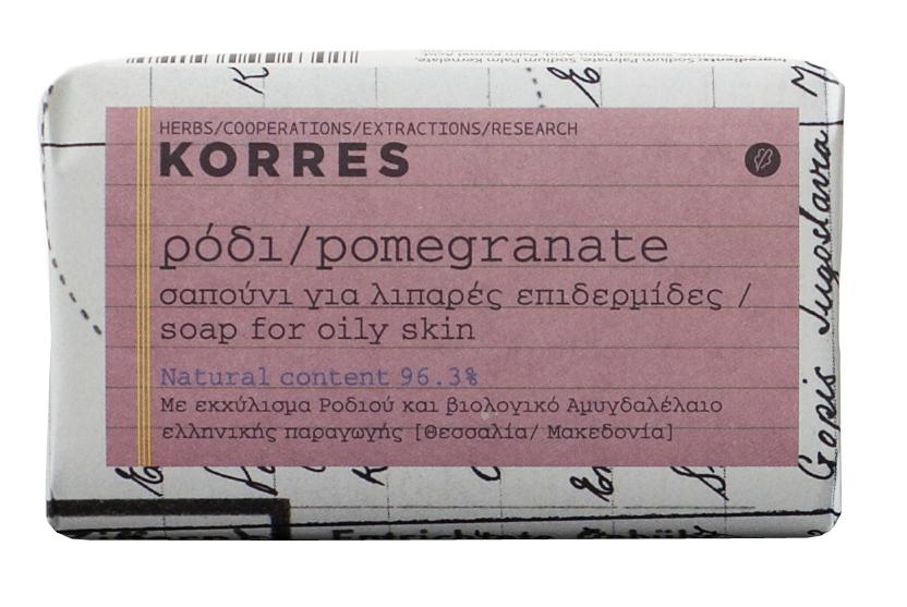 KORRES Мыло для жирной кожи, гранат 125 г - Мыла