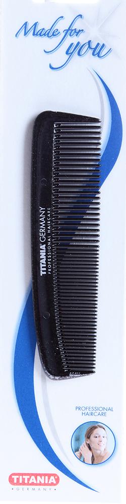 TITANIA Расческа T карманная черная / TITANIAРасчески<br>Расчёска карманная комбинированная Titania 1810/2 чёрная с редкими и частыми зубчиками.<br>