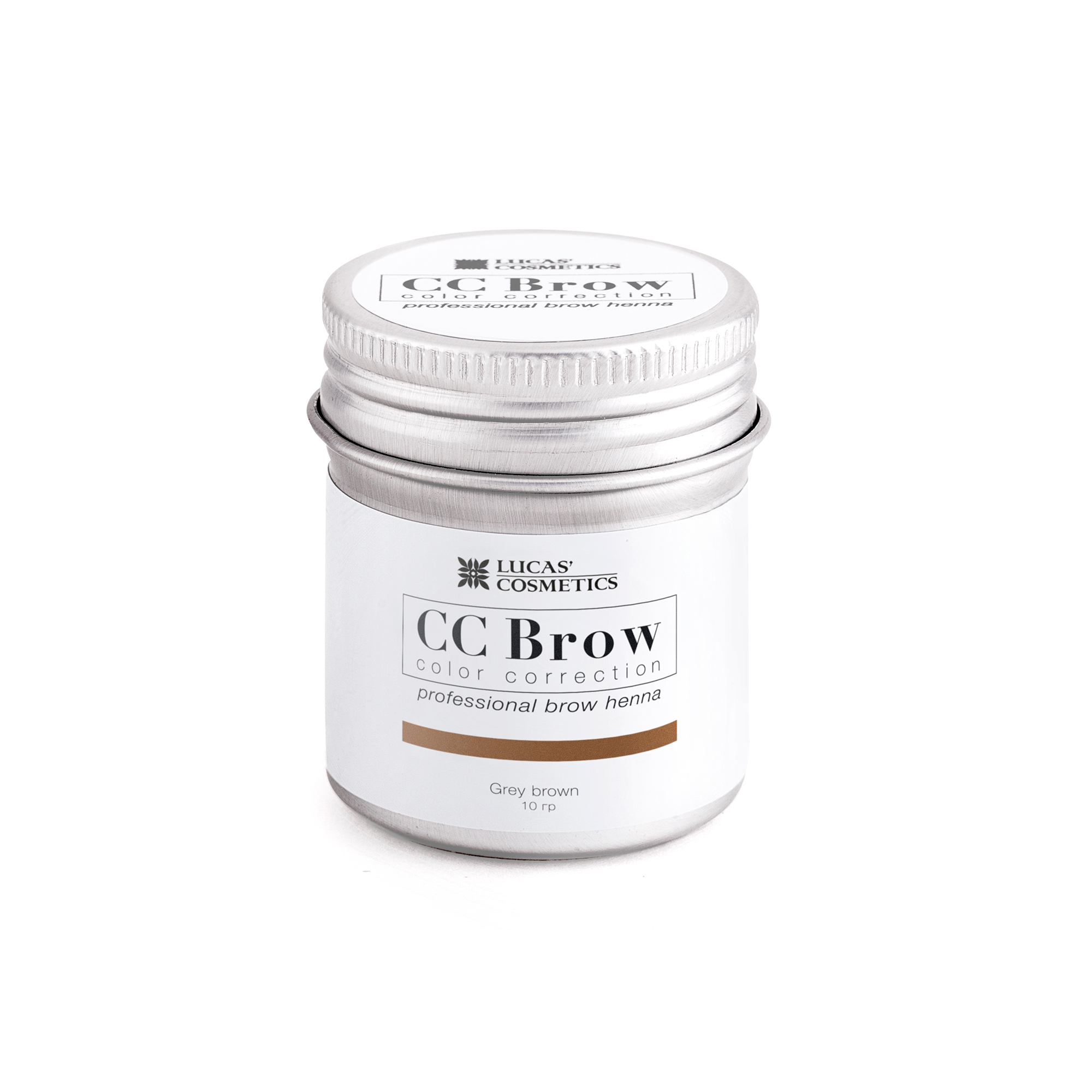 LUCAS' COSMETICS Хна для бровей в баночке (серо-коричневый) / CC Brow (grey brown), 10 гр -  Краски для бровей
