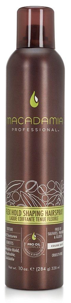 MACADAMIA PROFESSIONAL Спрей Подвижная фиксация / Flex Hold Shaping Hairspray 43грСпреи<br>Невесомый финиш-спрей Macadamia Professional с маслами арганы и макадамии обеспечивает среднюю степень фиксации, создает текстуру и объем. Дает подвижную фиксацию, великолепный блеск и защиту от УФ-лучей. Идеален для волос любой длины и формы. Оставляет волосы легко расчесываемыми и структурированными одновременно. Преимущества: Обеспечивает среднюю фиксацию Создает подвижную укладку Придает текстуру Усиливает блеск Подходит для всех типов волос Активные ингредиенты: Масло макадамии Масло арганы Состав: Вода,Цетеариловый спирт,Цетиловый спирт,Глицерин,Бутилен Гликоль,Диметикон,Цетримониум хлорид,Стеариловый спирт,Изопропил Пальмитат,Изогексадека,Циклопентасилоксан,Масло макадамии, Масло жожоба, Аргановое масло, Масло Авокадо, Масло грецкого ореха , Масло Ши, Пантенол, Ацетат Витамина Е, Гидролизованный кератин, Аминокислоты Шелка, Фосфолипиды, Ретинил пальмитат (витамин А), Аскорбилпальмитат, Растворимый коллаген, отдушка, Кополимер гидролизованного белка пшеницы, Стеаралкониум хлорид, Поликватериум-55, Гидроксиэтил целлюлоза, Кополимер ДивиниДиметикона и Диметикона, У12-13 Парет-23, У12-13 Парет-3, Диоксид титана, Мика, Титана ЕДТА, Феноксиэтанол, Метилхлороизотиазолин, Метилизотиазолинон, Кватерниум-95, Пропандиол, Лимонная кислота, Бензил Салицилат, Бутилфенил Метилпропионал, Гексил Циннамал, Линалоол Способ применения: распылите на расстоянии 20-25 см от поверхности волос на готовую укладку. Может применяться в качестве дополнительного стайлинга. Может наноситься повторно.<br><br>Типы волос: Для всех типов