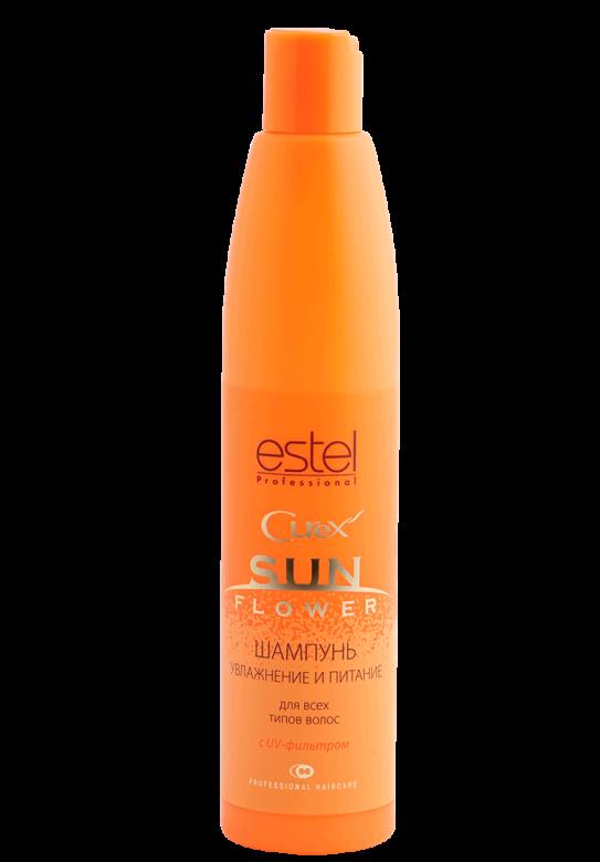 ESTEL PROFESSIONAL Шампунь увлажнение и питание с UV-фильтром / Curex Sunflower 250млШампуни<br>Мягко очищает волосы и кожу головы, интенсивно увлажняет пересушенные волосы, восстанавливает гидробаланс. Содержит UV-фильтр, обеспечивающий защиту волос во время пребывания на солнце или в солярии. Сбалансированный витаминный комплекс питает кожу головы, способствует восстановлению волос, придает блеск. Защита от UV-лучей. Мягкое очищение. Интенсивное увлажнение. Активные ингредиенты:&amp;nbsp;сбалансированный витаминный комплекс,&amp;nbsp;UV-фильтр. Способ применения:&amp;nbsp;нанести на влажные волосы, вспенить. Тщательно смыть.<br><br>Объем: 250мл<br>Вид средства для волос: Солнцезащитный
