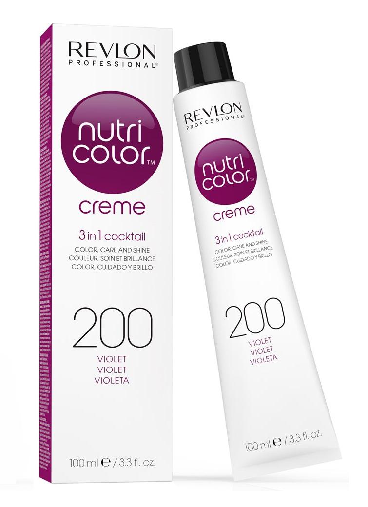 Купить REVLON Professional 200 краска 3 в 1 для волос, фиолетовый / NUTRI COLOR CREME 100 мл, Красный и фиолетовый