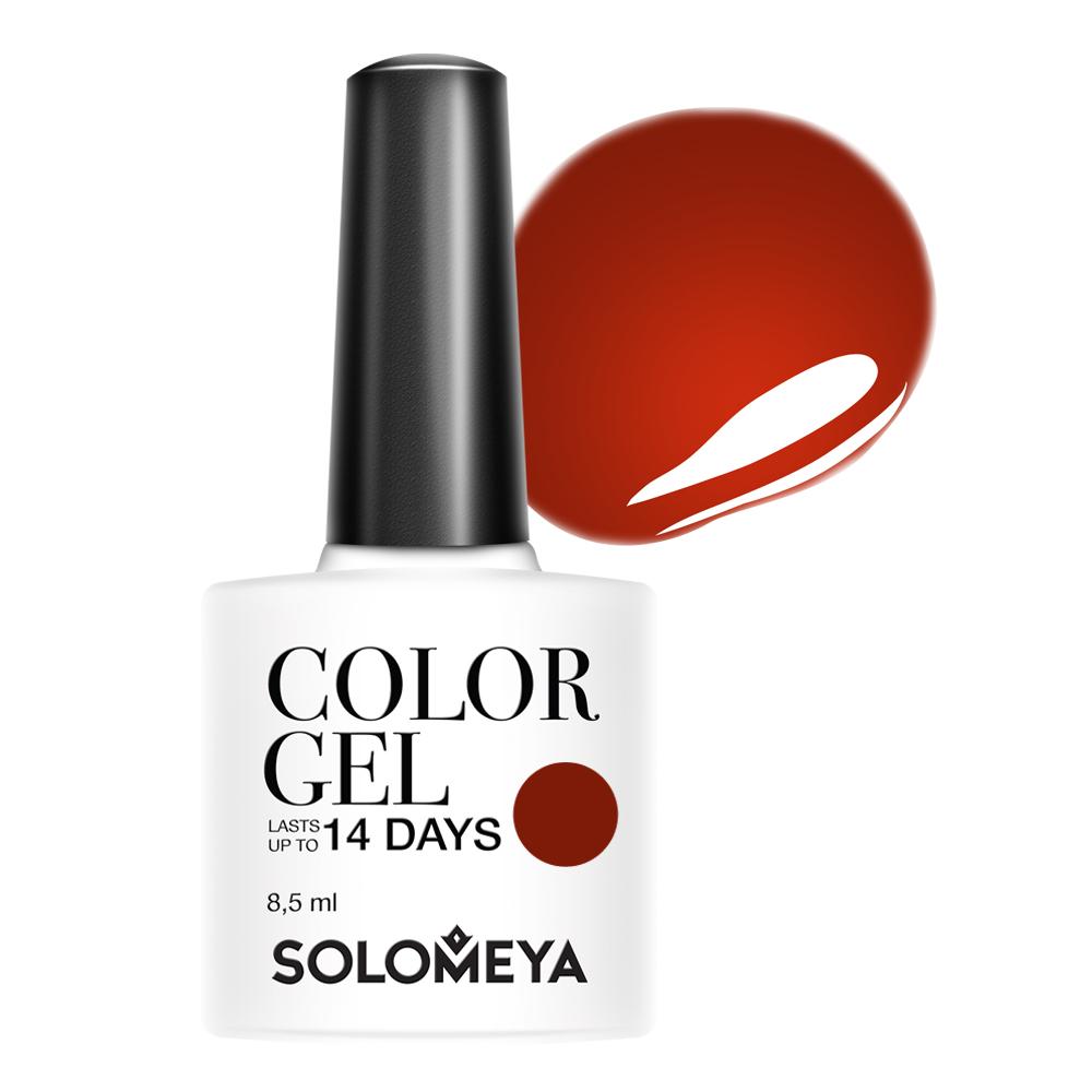 SOLOMEYA Гель-лак для ногтей 120 Сангрия / Color Gel Sangria 8,5 мл solomeya solomeya гель лак scgk083 беатрис гель лаки colorgel beatrice 08 1568 8 5 мл