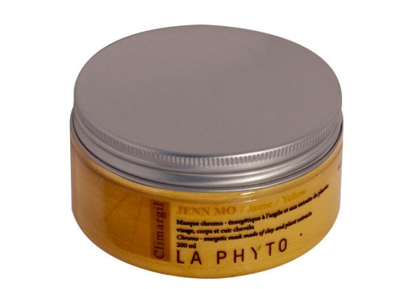 LA PHYTO Глина для лица, тела и волос Желтая / Jenn mo Jaune CLIMARGIL 150 грГлины<br>Глина для лица и тела Желтая - питательная, активизирует пищеварительную систему. Борется с проявлениями кожной интоксикации и стимулирует нервную активность (нервное истощение, апатия). Активные ингредиенты: глина, эфирные масла лимона, кипариса, лаванды, розмарина, шалфея и экстракты женьшеня и черной смородины. Способ применения: нанести глину на все тело и/или лицо, рефлекторные зоны, энергетические меридианы согласно протокола процедуры. Время воздействия   около 15 минут. Смыть. В домашних условиях можно использовать в качестве масок и обертываний, а также для умывания (нанести на лицо и шею мягкими круговыми движениями, смыть теплой водой).<br><br>Вид средства для лица: Питательный<br>Вид средства для волос: Питательный<br>Типы кожи: Для всех типов<br>Типы волос: Для всех типов
