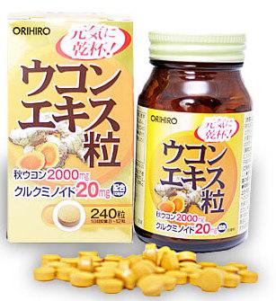 ORIHIRO Экстракт куркумы, таблетки 240 шт