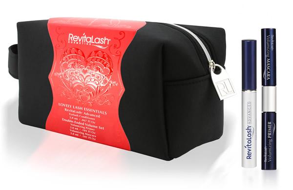 REVITALASH Набор с черной косметичкой (усилитель роста ресниц 2мл + основа под тушь 3мл + тушь иссине-черная 3мл) / RevitaLash