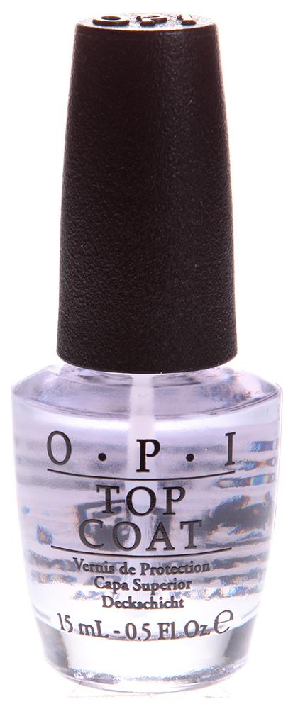OPI Покрытие верхнее закрепляющее / Top Coat 15млВерхние покрытия<br>Препарат эффективно покрывает ногтевую пластину, образуя на ней надежное покрытие с зеркальным блеском, формирует ровную и гладкую поверхность на ваших ногтях, способствует сохранению прочности лаковой окраски, хорошо закрепляет ее. Активные ингредиенты: Основа, восстанавливающая формула, кератиновые аминокислоты. Способ применения: Применение показано для процедуры маникюра и педикюра. Можно использовать как в салонах, так и самостоятельно, в домашних условиях. Используется для закрепления лака. Наносится на окрашенную поверхность ногтей.<br><br>Объем: 15<br>Виды лака: Глянцевые<br>Типы ногтей: Нормальные