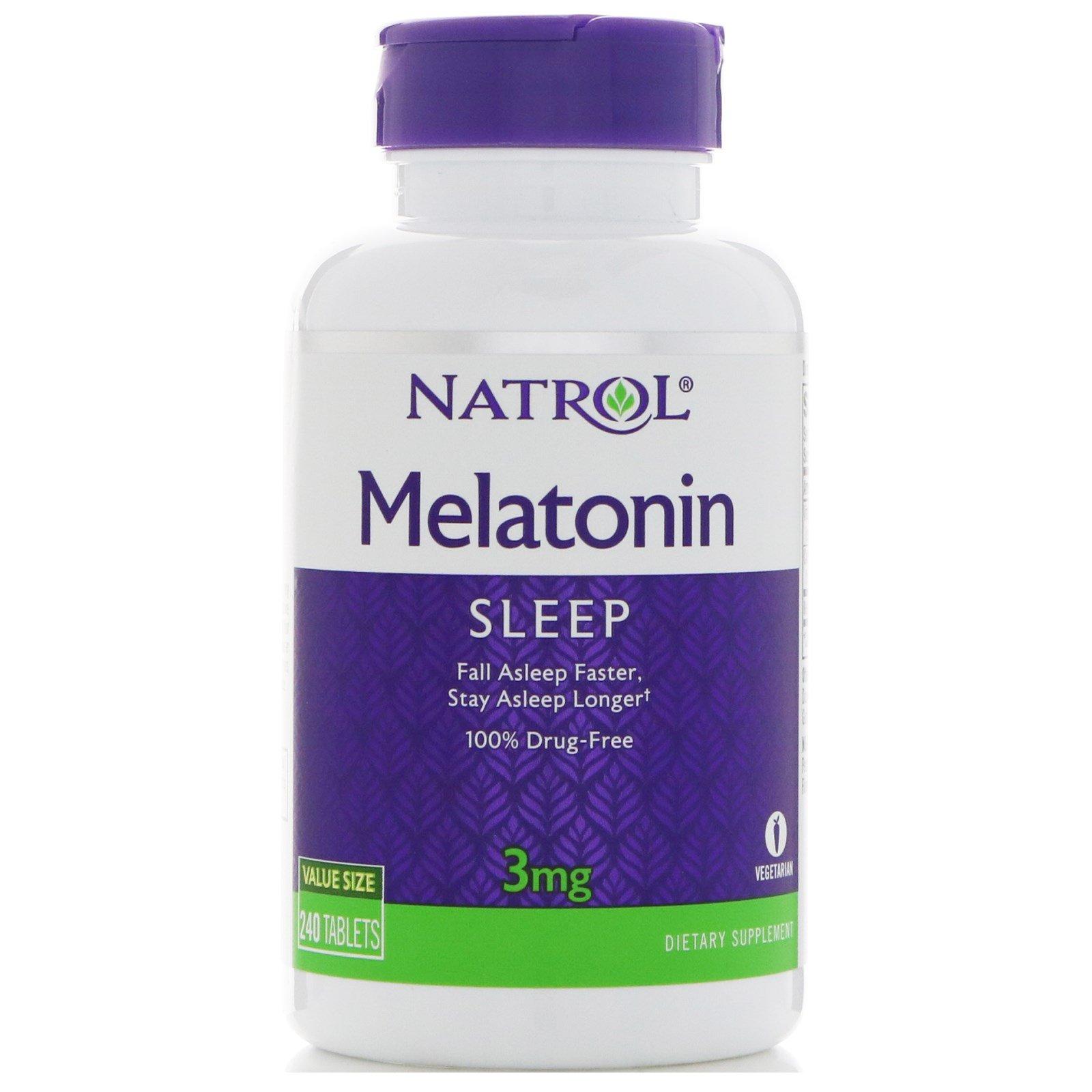 Купить NATROL Добавка биологически активная к пище Мелатонин / Melatonin 3 мг 240 таблеток