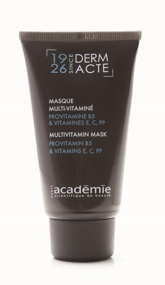 ACADEMIE Маска мультивитаминная / DERM ACTE 75млМаски<br>Маска богатой текстуры обладает отличным витаминизирующим и освежающим действием. Омолаживает и глубоко увлажняет кожу. Улучшает эластические свойства кожи, делая ее невероятно упругой и подтянутой. Особенно рекомендована для усталой и тусклой кожи с пигментацией и сетью мелких морщин. Результат: Молодая, свежая и увлажненная кожа с ровным тоном и сияющим оттенком. Активные ингредиенты: витамины Е и C направленного действия (производная): 0,5%; провитамин В5: 0,5%; витамин РР: 0,5%; декстран сульфат: 0,5%; витамин Е: 0,05%; гиалуроновая кислота высокой молекулярной массы: 0,02%; гиалуроновая кислота низкой молекулярной массы: 0,02%. Способ применения:&amp;nbsp;использовать 1-2 раза в неделю. Нанести маску средним слоем, избегая области век, выдержать 15 минут, остатки удалить салфеткой или смыть водой. Нанести крем.<br><br>Назначение: Морщины