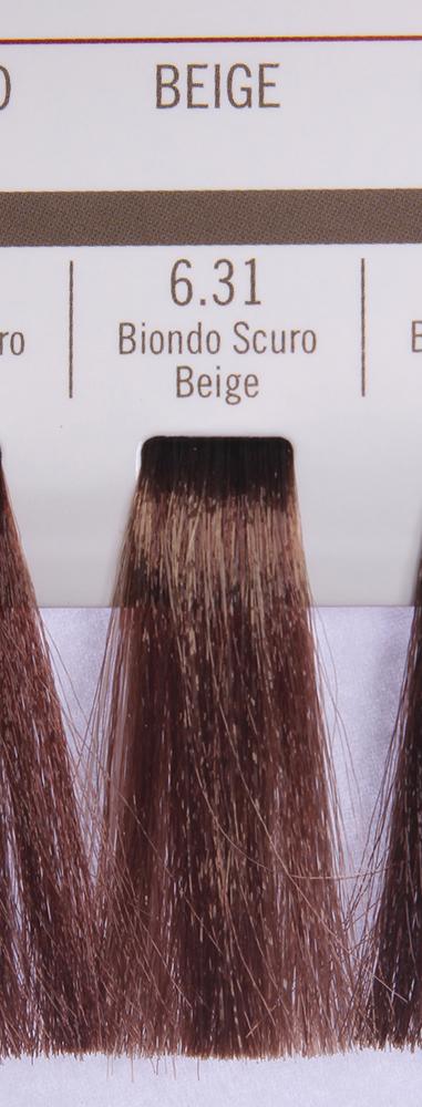 BAREX 6.31 краска для волос / PERMESSE 100млКраски<br>Оттенок: Темный блондин бежевый. Профессиональная крем-краска Permesse отличается низким содержанием аммиака - от 1 до 1,5%. Обеспечивает блестящий и натуральный косметический цвет, 100% покрытие седых волос, идеальное осветление, стойкость и насыщенность цвета до следующего окрашивания. Комплекс сертифицированных органических пептидов M4, входящих в состав, действует с момента нанесения, увлажняя волосы, придавая им прочность и защиту. Пептиды избирательно оседают в самых поврежденных участках волоса, восстанавливая и защищая их. Масло карите оказывает смягчающее и успокаивающее действие. Комплекс пептидов и масло карите стимулируют проникновение пигментов вглубь структуры волоса, придавая им здоровый вид, блеск и долговечность косметическому цвету. Активные ингредиенты:&amp;nbsp;Сертифицированные органические пептиды М4 - пептиды овса, бразильского ореха, сои и пшеницы, объединенные в полифункциональный комплекс, придающий прочность окрашенным волосам, увлажняющий и защищающий их. Сертифицированное органическое масло карите (масло ши) - богато жирными кислотами, экстрагируется из ореха африканского дерева карите. Оказывает смягчающий и целебный эффект на кожу и волосы, широко применяется в косметической индустрии. Масло карите защищает волосы от неблагоприятного воздействия внешней среды, интенсивно увлажняет кожу и волосы, т.к. обладает высокой степенью абсорбции, не забивает поры. Способ применения:&amp;nbsp;Крем-краска готовится в смеси с Молочком-оксигентом Permesse 10/20/30/40 объемов в соотношении 1:1 (например, 50 мл крем-краски + 50 мл молочка-оксигента). Молочко-оксигент работает в сочетании с крем-краской и гарантирует идеальное проявление краски. Тюбик крем-краски Permesse содержит 100 мл продукта, количество, достаточное для 2 полных нанесений. Всегда надевайте подходящие специальные перчатки перед подготовкой и нанесением краски. Подготавливайте смесь крем-краски и молочка-оксигента Permesse в неме