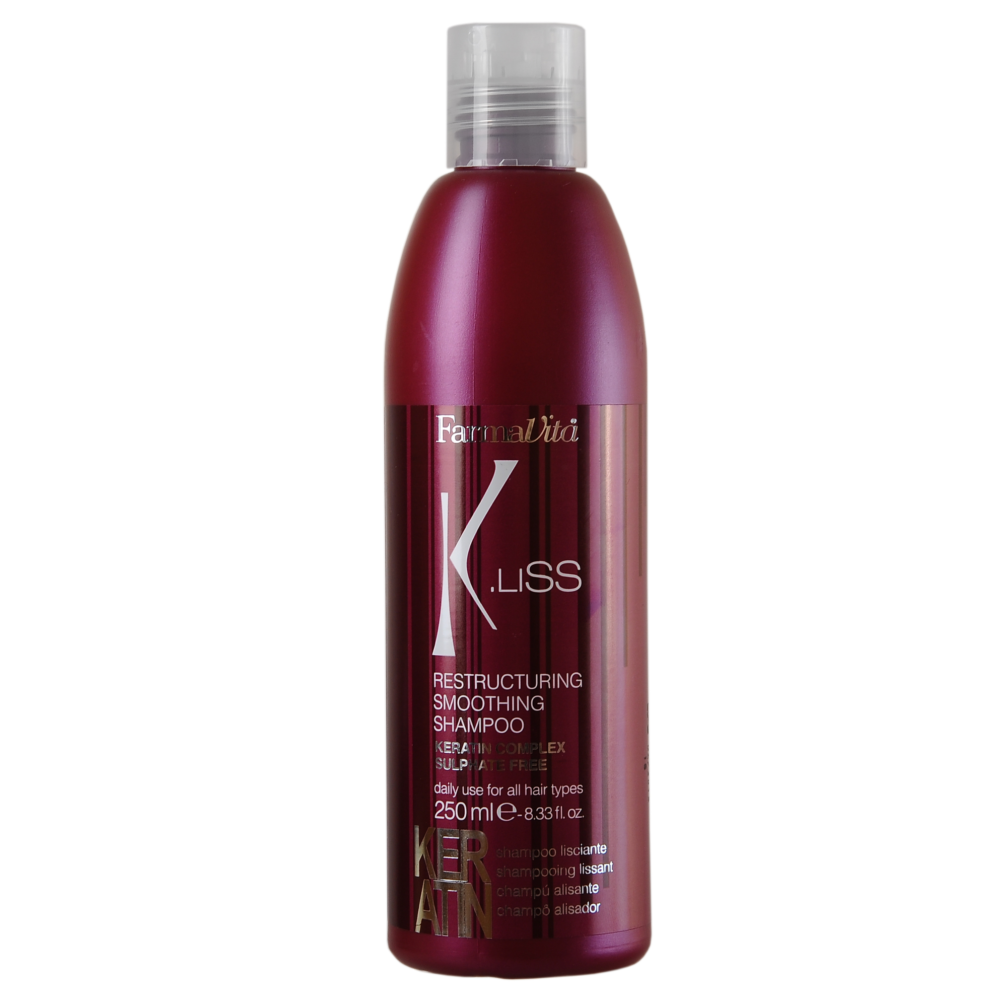 FARMAVITA Шампунь реструкт. с кератином K.Liss Restructuring smoothing shampoo / K.LISS 250 мл