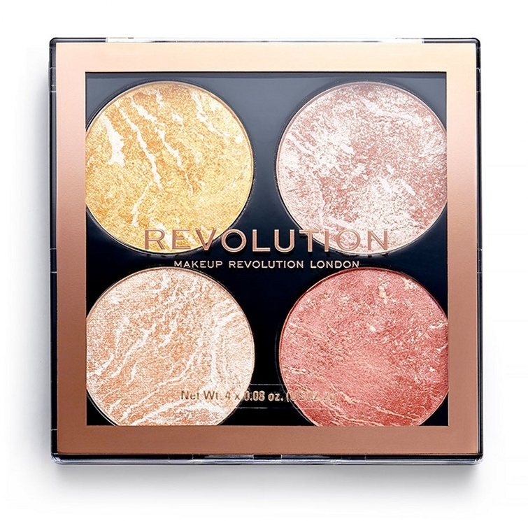 Купить MAKEUP REVOLUTION Хайлайтер для лица в палетке 4 в 1 / Cheek Kit Make It Count