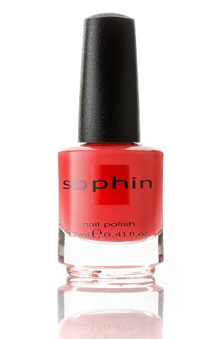 SOPHIN Лак для ногтей, оранжево-коралловый 12мл
