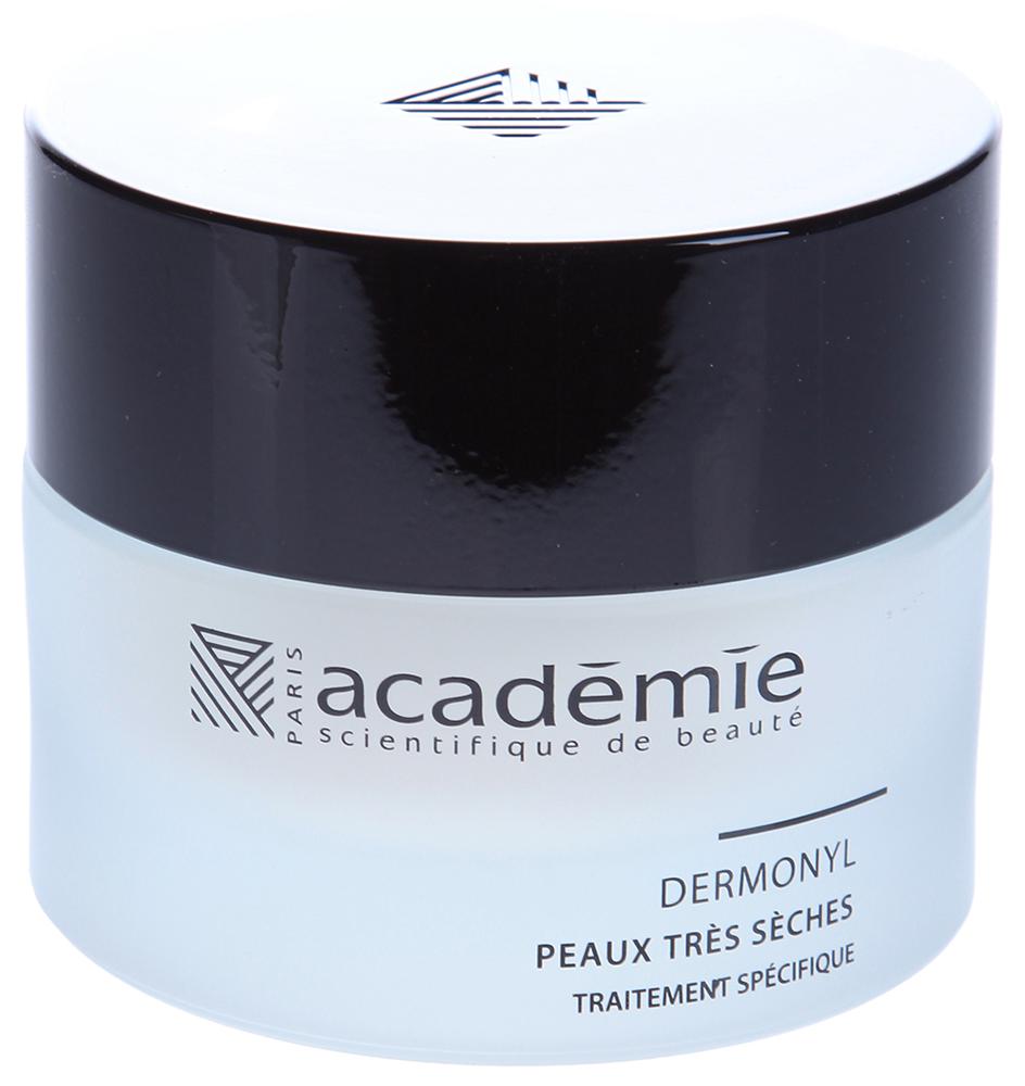 ACADEMIE Крем восстанавливающий питательный Dermonyl / VISAGE 50млКремы<br>Крем для сухой и очень сухой чувствительной кожи с выраженными признаками старения. Увлажняет, питает и разглаживает кожу с недостатком липидов. Обладает оживляющим и подтягивающим действием, насыщает клетки кожи кислородом. Результат: Нежная, увлажненная и молодая кожа. Активные ингредиенты: растительные сквалены: 5.8%,&amp;nbsp;соевый лецитин: 0.56%,&amp;nbsp;экстракт буковых почек: 0.34%,&amp;nbsp;гипоаллергенный активный ингредиент: 0.2%,&amp;nbsp;витамин F: 0.16%,&amp;nbsp;витамин A: 800 UVG,&amp;nbsp;концентрация активных ингредиентов 7.14%. Способ применения:&amp;nbsp;крем рекомендуется использовать 1-2 раза в день. Нанести крем на очищенную и тонизированную кожу и впитать мягкими массажными движениями.<br><br>Объем: 50 мл