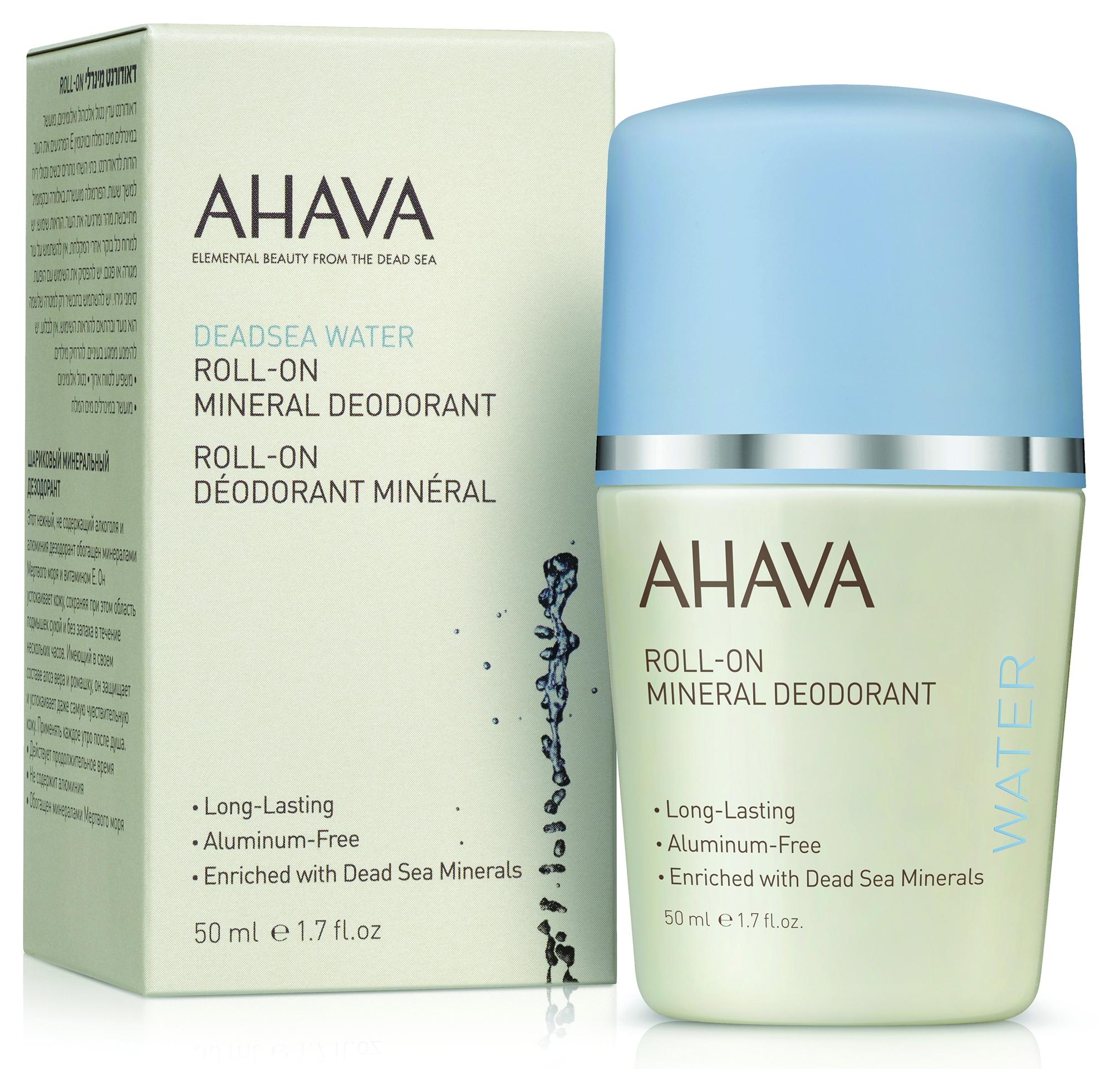 AHAVA Дезодорант шариковый минеральный для женщин / Deadsea Water 50 мл - Дезодоранты